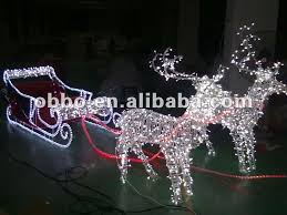 Outdoor Christmas Decor Reindeer by 2013 Outdoor Christmas Reindeer And Sleigh Motif Buy Animated