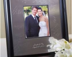 wedding signing board contemporary signature frame wedding guestbook alternative