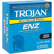 trojan enz lubricated latex condoms 36 ct walmart com