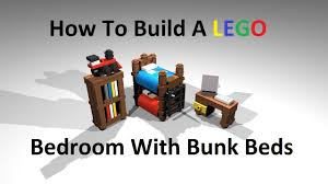 how to build a lego bedroom with bunk beds custom moc instructions