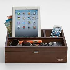 men u0027s wood charging station and valet personalized
