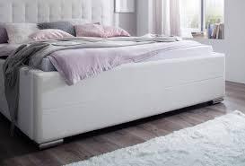 Schlafzimmerm El Disselkamp Meise Polsterbett Toronto In Kunstleder Weiß Mit Lattenrost Und