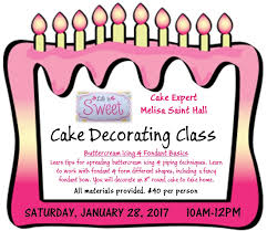 cake decorating class tickets sat jan 28 2017 at 10 00 am