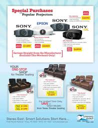 promotions and special offers media room specials stereo east