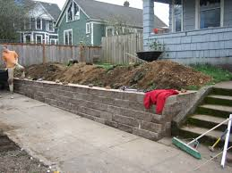how to improve the look of a concrete retaining wall the
