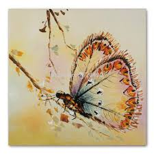 Wall Art For Living Room by Handmade Modern Simple Decorative Butterfly Picture Oil Painting