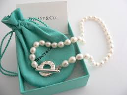 pearl necklace tiffany images Tiffany co silver pearl necklace strand toggle clasp chain 16 5 jpg