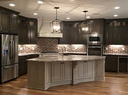 country kitchen ideas brick backsplash ideas for country kitchen with brown floor 8925