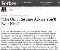 Best Resume Advice Lofty Ideas Forbes Resume Tips 3 Resume Example