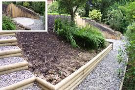 Sloping Garden Ideas Photos How To Landscape A Sloping Garden Design Decoration