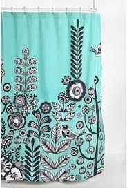 black and white fabric shower curtain foter