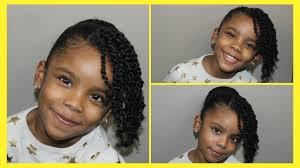 mini twist and bun for natural kids hair cute u0026 simple