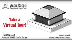 Building A Two Car Garage Accu Rated Blueprints U0026 House Plans Mansard Two Car Garage Plans