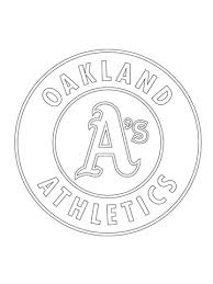 oakland athletics logo coloring page free printable coloring pages