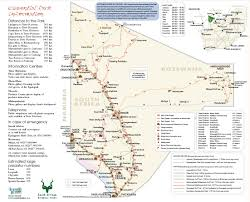 Frontier Route Map by South African National Parks Sanparks Official Website