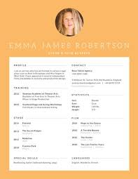 Actor Resume Template Stage And Film Actress Resume Templates By Canva