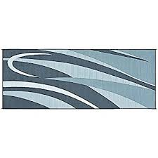 Rv Patio Mats Wholesale Amazon Com Reversible Mats 159183 Blue Grey 9 U0027x18 U0027 Rv Patio Mat