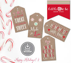 christmas cookie tags holiday treat tags holiday recipe tags