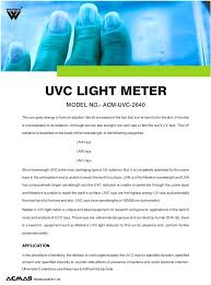 uvc light meter by acmas technologies pvt ltd