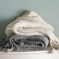 White Throws For Sofas 100 Cotton Knit Blanket White Plaid Throw For Sofas Cotton Knit