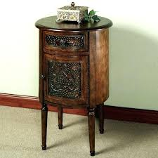 rosewood tall end table coffee brown tall end table with drawers mid century nightstand w brass knob cvid