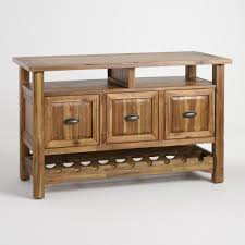 White Sideboard With Glass Doors by Wine Storage Sideboards U0026 Bar Cabinets World Market