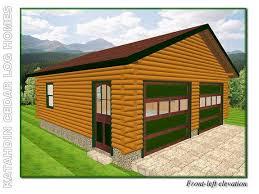 log home floor plans with garage garage b katahdin cedar log homes floor plans