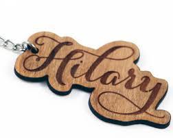 wooden key chain custom wood keychain etsy