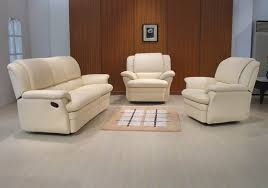 White Leather Recliner Sofa White Leather Reclining Sofa Hereo Sofa