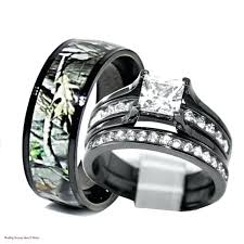 camo wedding rings his and hers camo wedding band sets powerseason4 site