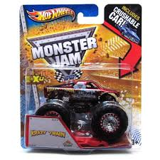 monster truck race track toys amazon com monster jam maximum destruction krazy train includes