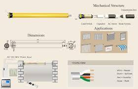 standard tubular electric motor cl845 1517 rf remote tubular