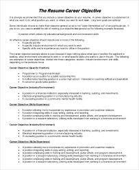 Example Objectives For Resume by Objective On Resume Examples Education Objective For Resume