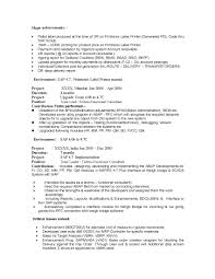 Sample Resume For 3 Years Experience In Manual Testing Sap Is Industry Solutions Sample Resume 14 00 Years Experience