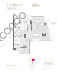 Floor Plan La by Shangri La Hotel U0026 Residences Talkcondo