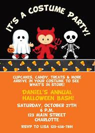 free printable halloween themed birthday party invitations