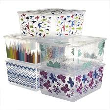 Large Clear Storage Containers - pack kis urbin large plastic storage bins with lids home