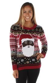 the night before ugly christmas sweater black santa just