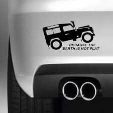 Because The Earth Is Not Flat Car Sticker Bumper Sticker South