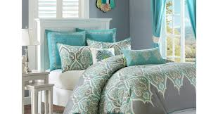 White And Teal Comforter Duvet White Comforter Queen Stunning Grey Bedding Double 10