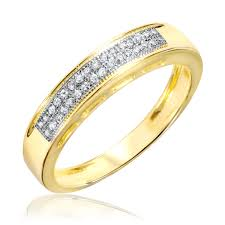 yellow gold wedding bands 1 10 ct t w diamond wedding band 10k yellow gold