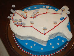 Road Trip Map Usa by Usa Road Trip Cake Cakecentral Com