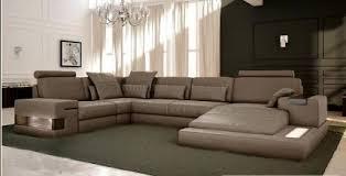 canapé panoramique en cuir italien design et pas cher