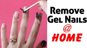 how to remove gel nails at home with acetone youtube