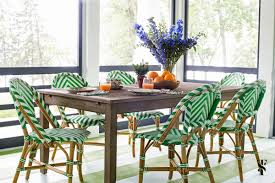 Green Bistro Chairs Colorful Lake House Summer Thornton Design