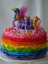 my pony cake ideas my pony rainbow ruffle cake cake decorating