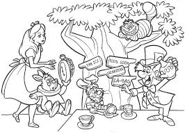 alice tea party coloring pages color tickled pink