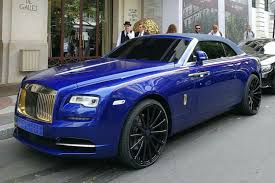rolls royce dawn blue car gallery