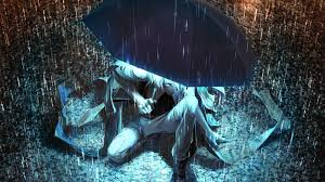halloween background anime 1920x1080 1920x1080 wallpaper yuanmaru man umbrella rain light night