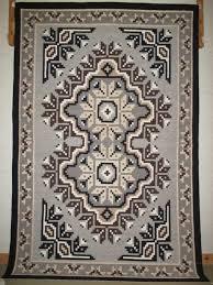 two grey hills rug by darlene dean large navajo weaving
